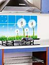 민들레 스타일의 방수 홈 아트 데칼 벽 스티커 내유 이동식 부엌