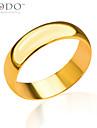 Homme Femme Couple Anneaux bijoux de fantaisie Plaque or Bijoux Pour Mariage Soiree Quotidien Decontracte Sports