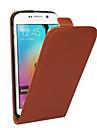 For Samsung Galaxy Case Flip Case Full Body Case Solid Color Genuine Leather Samsung S6 edge plus / S6 edge / S6 / S5 / S4 / S3