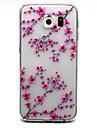 Для Samsung Galaxy S7 Edge Прозрачный / Рельефный Кейс для Задняя крышка Кейс для Цветы TPU Samsung S7 edge / S7