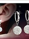 Femme Boucles d'oreille goutte Mariée Elegant bijoux de fantaisie Strass Alliage Balle Bijoux Pour Quotidien Décontracté