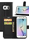 용 Samsung Galaxy S7 Edge 지갑 / 카드 홀더 / 스탠드 / 플립 케이스 풀 바디 케이스 단색 인조 가죽 Samsung S7 edge / S7 / S6 edge plus / S6 edge / S6 / S5 / S4 / S3