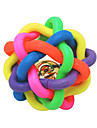 Cat Toy Dog Toy Pet Toys Ball Chew Toy Bell Nobbly Wobbly Multicolor Rubber