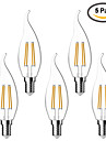 5 pcs kwb E14 4W 4 COB 380 lm Warm White C35T edison Vintage LED Filament Bulbs AC 220-240 V