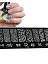 1PCS новый искусства ногтя штамповки пластины поделки шаблоны изображений инструменты ногтя красотки ху-j06-10