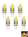 6pcs / lot g4 2w 1cob 100-150 lm dimmable chaud / froid blanc mr11 led bi-pin lumieres dc / ac 12 v