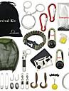 Compassos Saco de Higiene Pessoal Fivela Kit de Sobrevivencia Iniciador de Fogos Bracelete de Sobrevivencia Equitacao Campismo Exterior