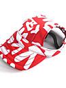 Gatos Caes Bandanas e Chapeus Vermelho Preto Roupas para Caes Verao Primavera/Outono Blocos de cor Ferias Casual
