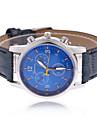 Hommes Montre Bracelet Quartz Polyurethane Bande Noir Bleu Marron