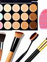 1PCS 15 Colors Camouflage Natural Contour Face Cream/Facial Concealer Makeup Palette+1 Contour Brush+1 Brush Egg