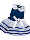 Dog Dress Red / Blue / Pink Dog Clothes Summer Bowknot