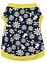 Chat Chien Tee-shirt Jaune Vetements pour Chien Ete Floral / Botanique Mode