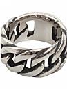 남성용 밴드 반지 패션 의상 보석 티타늄 스틸 보석류 제품 일상 캐쥬얼