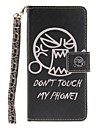 Painted Do Not Touch Me Pattern Card Can Lanyard PU Phone Case For Samsung Galaxy G530 G360 J1 J3 J5 (2016)