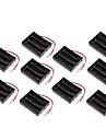 10pcs 18650 secao de suporte de bateria caixa de bateria 3 11.1v tres series proteccao bordo 18650 de litio cartucho de bateria
