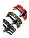 Beadia 1Pc Black Anchor Retro Multilayer Risers Bracelet Christmas Gifts