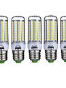 15W E26/E27 LED 콘 조명 T 72 SMD 5730 980LM lm 따뜻한 화이트 / 차가운 화이트 장식 AC 220-240 V 5개