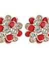 Forme de Fleur Boucles d\'oreille goujon Bijoux Femme Imitation de perle Soiree Quotidien Decontracte Alliage 1 paire Dore