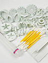 1 Set Of 46 Pcs DIY / 고품질 / 케이크 장식 / 베이킹 도구 / 패션 케이크 / 쿠키 / 초콜렛 / Cupcake ABS 재질 페이스트리 용품