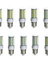 10PCS E14/G9/GU10/E26/E27/B22 69SMD 5730 850-950LM Warm White/White Decorative/Waterproof  LED Corn Lights