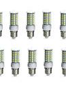 10W E14 / G9 / GU10 / B22 / E26/E27 LED 콘 조명 튜브 69 SMD 5730 850-950 lm 따뜻한 화이트 / 차가운 화이트 장식 / 방수 AC 220-240 / AC 110-130 V 10개