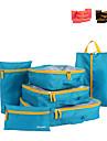 6 conjuntos Bolsa de Viagem Organizador de Mala Cubos Organizadores Organizadores para Viagem para Organizadores para ViagemTecido de