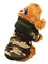 Gatos Caes Casacos Camisola com Capuz Roupas para Caes Inverno Primavera/Outono camuflagem Da Moda Mantenha Quente Cor camuflagem Leopardo
