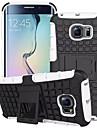 For Samsung Galaxy S7 edge case Tire Hybrid TPU PC Hard Shockproof Kick Stand Cover Galaxy S6 S5 S4 Mini Edge Plus