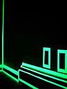 decoracao decalque verde fluorescente etiqueta noite tira de fita luminosa para a porta da escada motocicleta carro fita luminosa