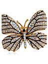 женская мода сплав / горный хрусталь броши шикарный булавка партия / ежедневно / вскользь форма бабочки ювелирных аксессуаров 1шт