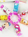 fibre de forme de cadeau d'anniversaire de bonbons serviette créative (couleur aléatoire)