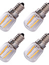 YouOKLight 4PCS E14 2W LED Filament Bulb Warm White 3000K 150-200lm - Transparent  Silver (AC 220V)