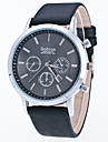 Men\'s Sport Watch Dress Watch Fashion Watch Wrist watch Quartz Large Dial Genuine Leather Band Charm Multi-Colored
