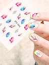 5pcs/set Adesivos para Manicure Artistica Decalques de transferencia de agua maquiagem Cosmeticos Designs para Manicure