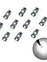 10pcs t10 5 * 5050 smd chalkboard decodificacao levou carro lampada luz branca dc12v