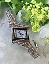 Женские Часы-браслет Имитационная Четырехугольник Часы Китайский Кварцевый / сплав Группа Повседневная Роуз
