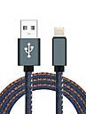 Lightning USB 2.0 Tresse Haut debit Cable Pour iPhone iPad MacBook MacBook Air MacBook Pro cm Nylon Aluminium