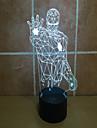 Lron man 3 d проекционный светильник сенсорный фонарь светодиодный акриловый визуальный свет