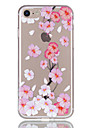 Pour apple iphone 7 7 plus 6s 6 plus couverture de boitier peach blossom motif relief vernis tpu materiel ne s\'efface pas boitier de