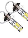 2pcs 7.5w led foglight h3 개 암 나무 열매는 6000k led 차 안개 빛 하얀 빛 dc12v