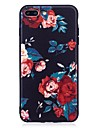 For iPhone 7 Plus 6 Plus 6S SE 5S 5 Case Cover Flower Pattern Relief Back Cover Soft TPU