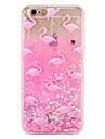 Чехол для Apple iphone 7 7 плюс фламинго блеск сияющий узор текучая жидкость твердый ПК 6 с плюс 6 плюс 6 с 6