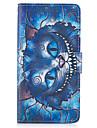 Pour samsung galaxy s8 plus s7 bord housse de protection le chat bleu pu pu cuir etuis pour s6 edge plus s5 mini s4 s3
