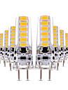 4W LED Bi-pin 조명 T 12 SMD 5730 300-400 lm 따뜻한 화이트 차가운 화이트 밝기조절가능 장식 AC 12 V 10개