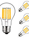 4pcs 10W E27 LED Filament Bulbs A60(A19) 10COB 900lm Warm/Cool White Decorative 360 Degree Retro Candle Lamp Lighting Edison AC175-265V