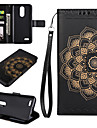 Case for LG K10 (2017) K8 (2017) Case Cover The Mandala Pattern PU Leather Cases for LG G6