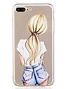 Para iPhone X iPhone 8 Case Tampa Estampada Capa Traseira Capinha Mulher Sensual Macia PUT para Apple iPhone X iPhone 8 Plus iPhone 8