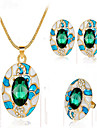 May Polly  Europe and the United States distinguished atmosphere necklace earrings rings fashion set