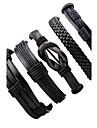 Homme Bracelets en cuir Multivoies Porter bijoux de fantaisie Ajustable Cuir Bijoux Pour Soiree Plein Air