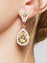 Femme Boucles d\'oreille goutte Boucles d\'Oreille Mode Elegant Mariee Adorable bijoux de fantaisie Zircon Imitation Diamant Alliage Goutte